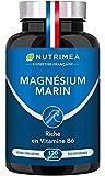 Magnésium Marin et Vitamine B6   Combat Efficacement la Fatigue   150 mg/jour   120 Gélules d'Origine Végétale   4 Mois de Cure   Fabrication Française   Nutrimea