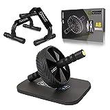 POWER GUIDANCE Roue Abdominale AB Wheel Roller Pro de Fitness et Musculation de Corp-Appareil Abdominal Munit d'Un Tapis Epais pour Genoux