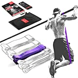 Elastique Musculation Traction Fitness + Guide Exercices, Assist Barre Fixe, Pull Up Bar Dip Bandes de Résistance | Gym Equipment: Muscu Tubes Bands Heavy Calisthenics Gymnastique Sport, Femme Homme