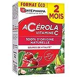 Forté Pharma - Acérola   Complément Alimentaire Vitalité - Riche en Vitamine C   60 Comprimés à croquer