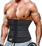 LAZAWG Ceinture de Sudation Taille Tondeuse pour Hommes néoprène Sweat Taille Formateur pour Perte de Poids entraînement Sauna Taille Ceinture de Minceur