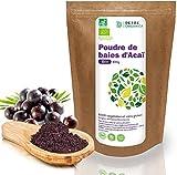 Detox Organica Acai Poudre Bio   Poudre d'Acai bio 100g   100% végétalien et sans gluten