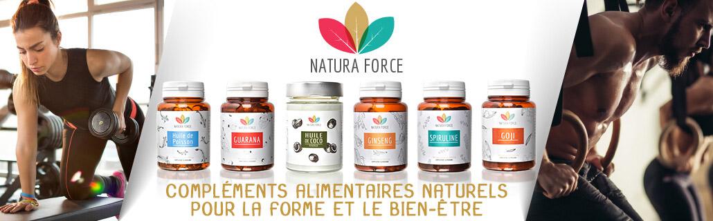 Bannière produits natura force 2019