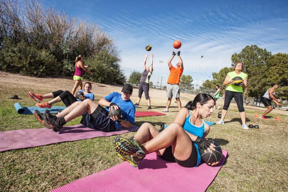 les équipements pour entraînements outdoor